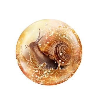 Drop of snail serum