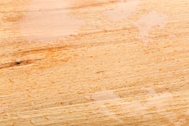 Drop of water on wooden table