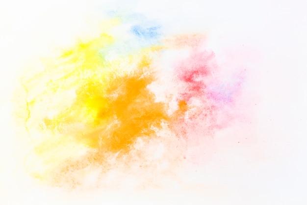 Drops of bright watercolor