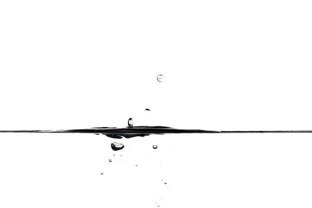 Drops falling in calm water