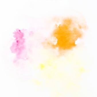 オレンジとフクシアの塗料の滴