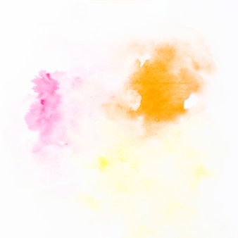 Drops of orange and fuchsia paint