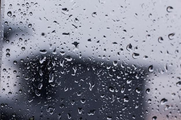Drops of rain water during the rainy season