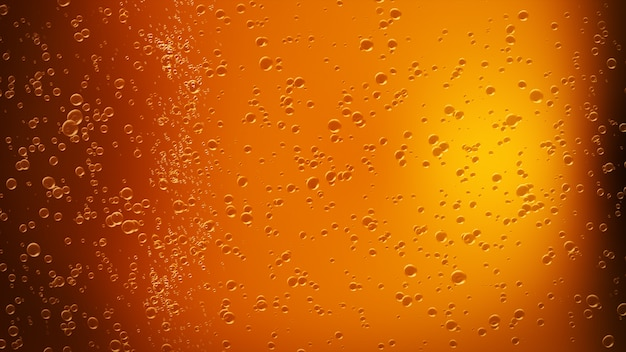 Drops of water on a glass of beer. background, texture 3d illustration