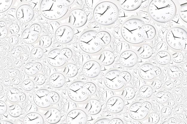 Предпосылка эффекта дросте с бесконечной спиралью часов. абстрактный дизайн для концепций, связанных со временем и сроками.