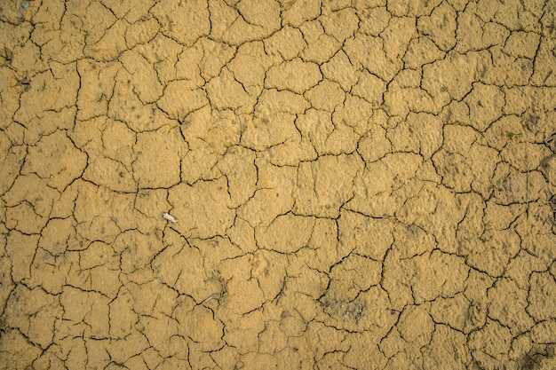 Drought cracked ground for a long period without rain as in the desert
