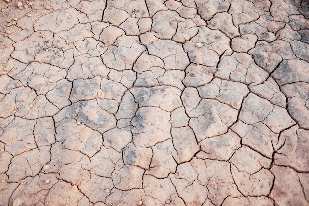 The drought in the mediterranean area dries the riverbeds background.