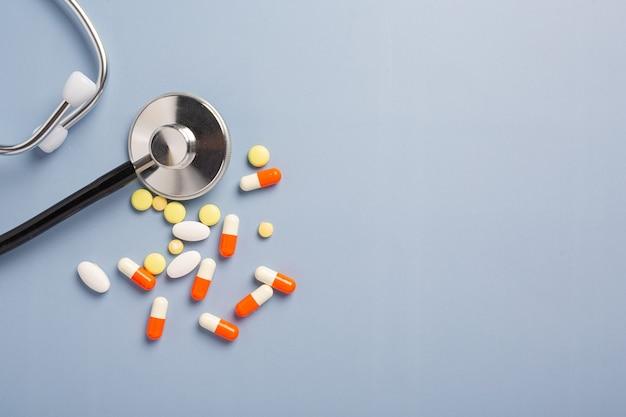 Drug prescription for treatment medication.