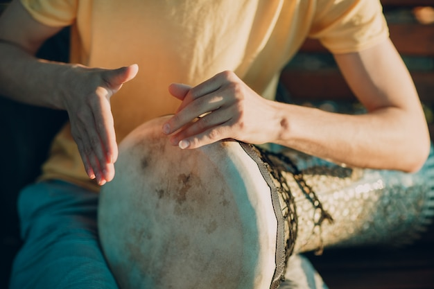 Drum playing