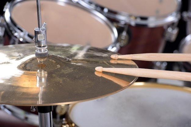 Drum set and sticks are on the disc.