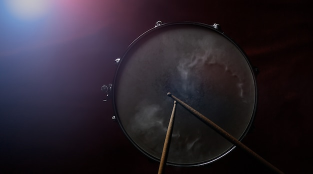 The drum sticks and snare drum