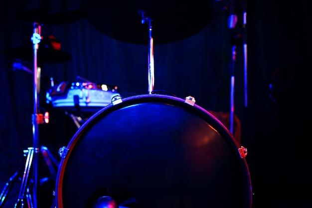 Drums in club.
