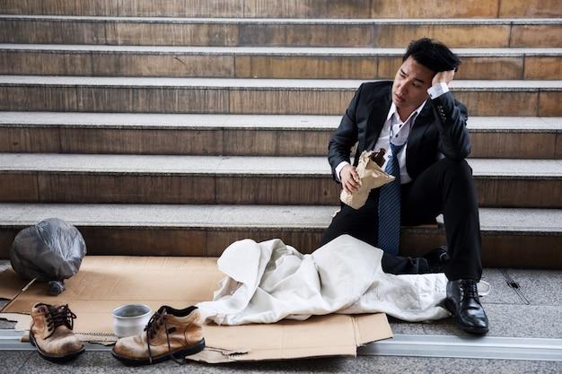 Drunk fired businessman to be beggar