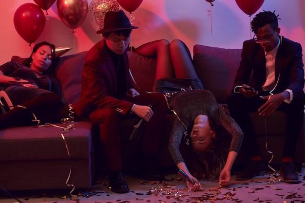 Drunk people in nightclub