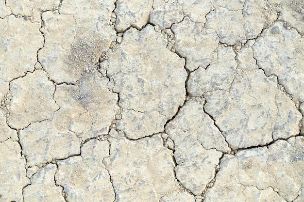 Сухая и потрескавшаяся земля.