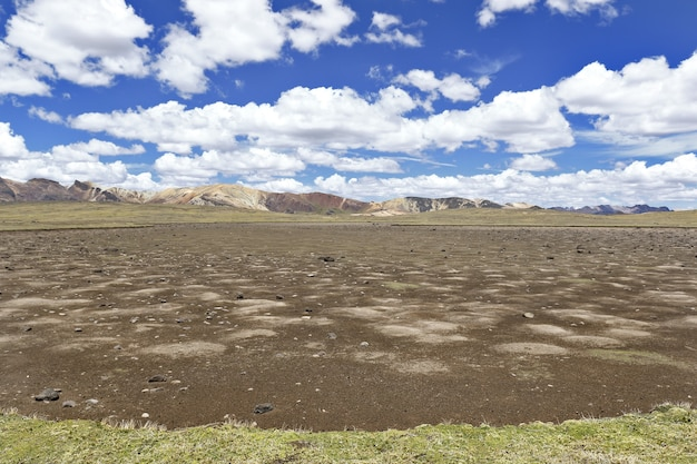 Dry andean lagoon product of climate change