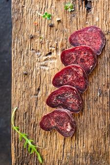 Сухая говяжья колбаса телятина махан вяленая конина закуска здоровая еда