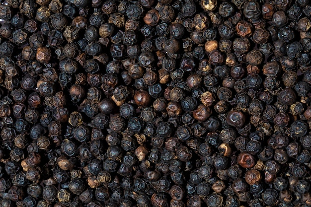 Dry black pepper background