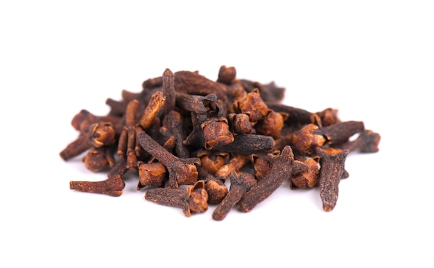 Dry clove isolated on white space. fragrant spices