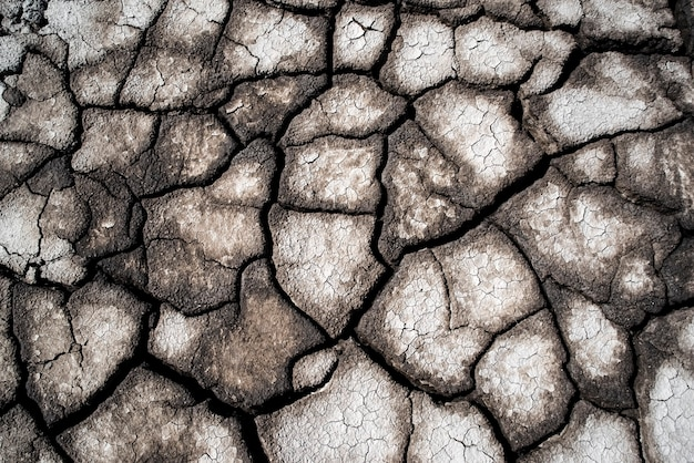 Dry cracked earth as a background closeup background full flame pattern crack surface texture Premium Photo