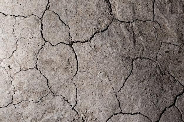 Текстура земли сухой потрескавшейся земли. без полива пустыни.