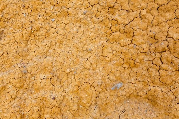 Сухая песчано-желтая почва с трещинами
