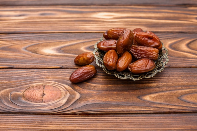 Dry dates on saucer