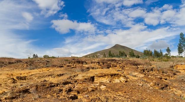 コロンビアの乾燥した砂漠の風景