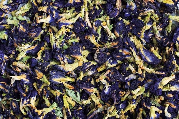 Сухие цветы тайский голубой чай анчан из бутонов клитории тернате.