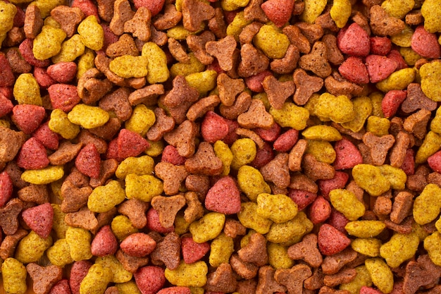Dry food for cats abstract background