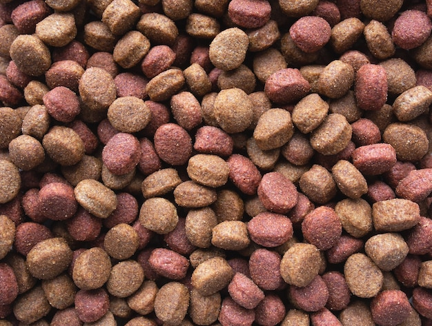 Dry food for large dogs background