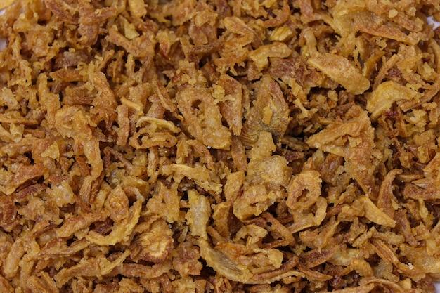 Dry fried onion background
