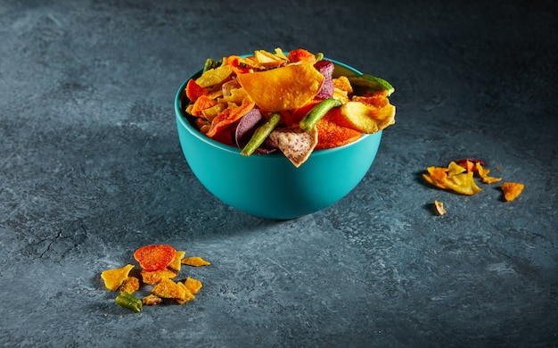 Dry fruit and healthy vegetable chips