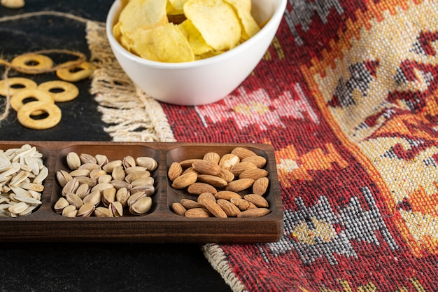 Dry fruits with potato chips