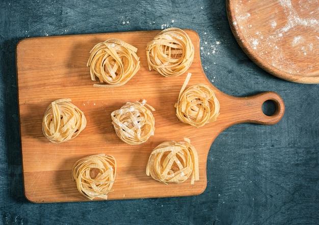 The dry italian pasta