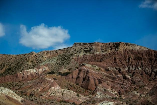 ボリビアのレアルアンデス山脈の乾燥した風景