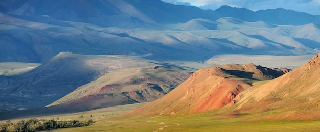 Dry mongolian landscapes in the south of altai