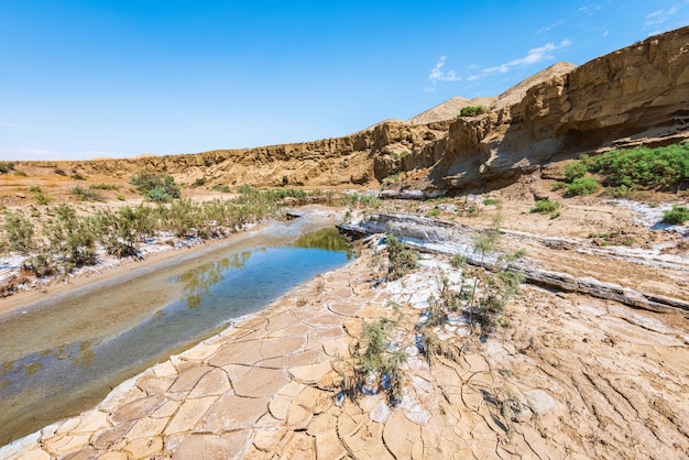 Dry river bed, drought, lack of water