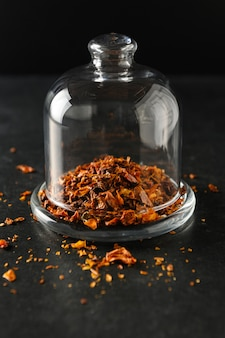 Dry sliced tomatoes seasoning dish ingredient