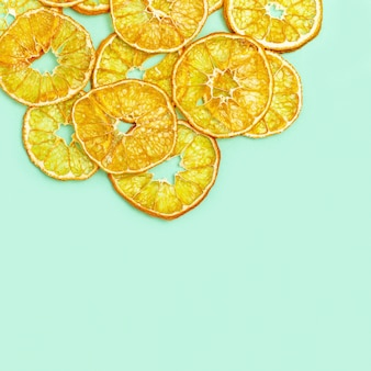 Dry slices of tangerine fruits
