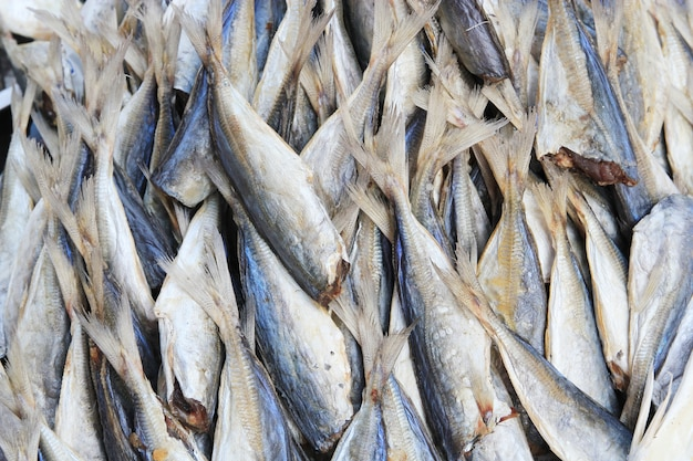 Dry stockfish at the rural market