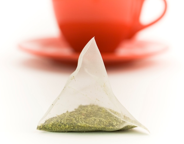Dry tea in a bag