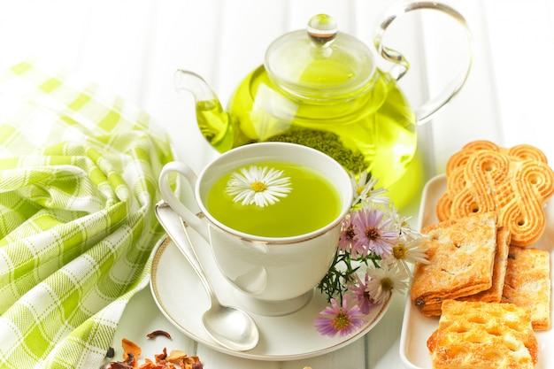 Сухие чайные листья.