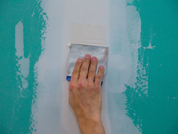 Drywall hydrophobic plasterboard trowel plastering seam