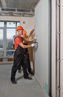 Drywall installation.