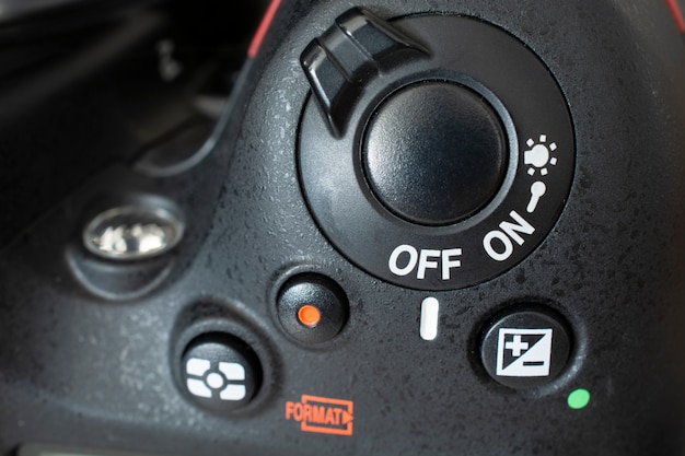Dslr camera controls switched off