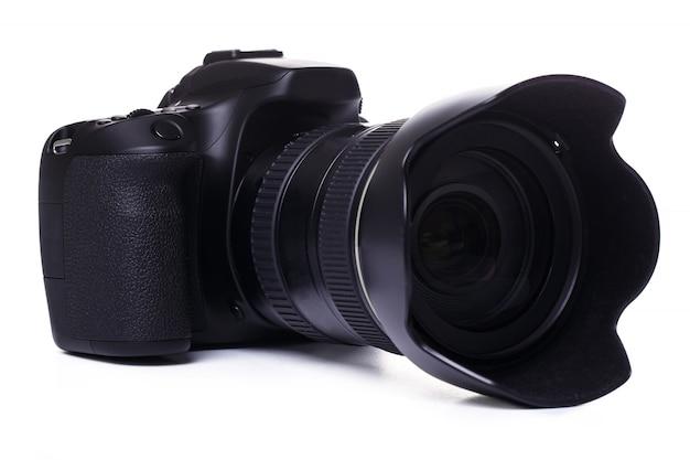 白のデジタル一眼レフカメラ