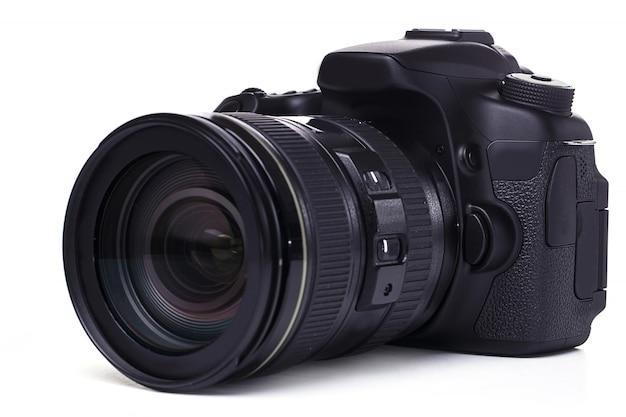 화이트 dslr 카메라