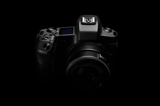Dslr photo camera body silhouette