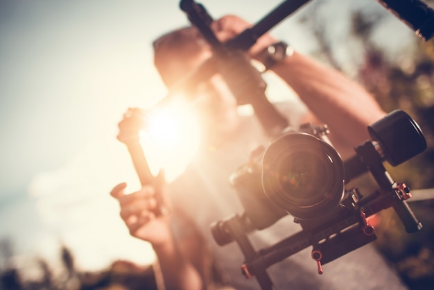 カメラジンバルdslrビデオ
